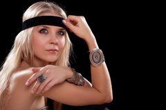 Portrait of attractive young blonde Stock Photography