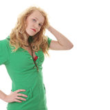 Portrait of a attractive young blonde Stock Photos
