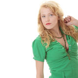 Portrait of a attractive young blonde Royalty Free Stock Image