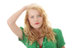 Portrait of a attractive young blonde Royalty Free Stock Photo
