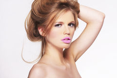Portrait of attractive young blonde girl Royalty Free Stock Images