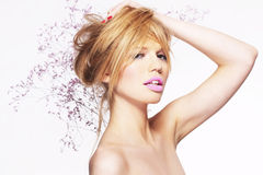 Portrait of attractive young blonde girl Royalty Free Stock Photography
