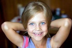 Portrait of attractive young blonde girl Royalty Free Stock Image