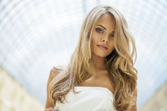 Portrait of attractive young blonde woman Stock Image
