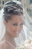 Portrait of attractive young bride Stock Image