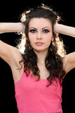 Portrait of attractive young brunette Royalty Free Stock Images