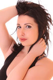Portrait of attractive young brunette woman Royalty Free Stock Images