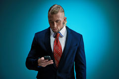 Portrait of an attractive young businessman Stock Photography