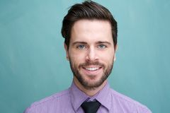 Portrait of an attractive young businessman smiling Stock Photography