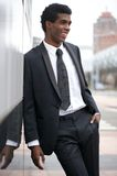 Portrait of an attractive young businessman smiling outdoors Stock Photography