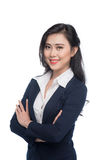 Portrait of an attractive young businesswoman isolated on white. Royalty Free Stock Image