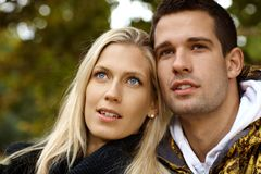 Portrait of attractive young couple Stock Photography