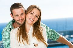 Portrait of attractive young couple. Stock Photography