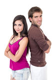 Portrait of attractive young couple posing Royalty Free Stock Photo