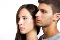 Portrait of attractive young couple Royalty Free Stock Photo