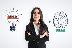 Brainstorm and success concept royalty free stock images