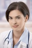 Portrait of attractive young female doctor Royalty Free Stock Images