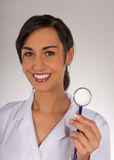 Portrait of attractive young female doctor. Stock Image