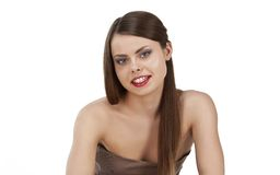 Portrait of attractive young female Stock Images