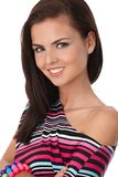 Portrait of attractive young female smiling Stock Photography