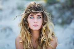 Portrait of attractive young girl Stock Image