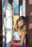 Portrait of attractive young girl Stock Photos