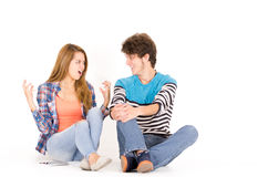 Portrait attractive young happy couple in love Stock Image