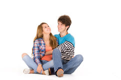 Portrait of attractive young happy couple in love Stock Photo