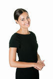 Portrait of an attractive young lady smiling Royalty Free Stock Images