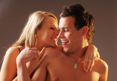The portrait of the attractive young loving pair Royalty Free Stock Images