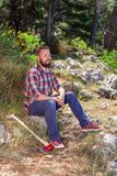 Portrait of an attractive young lumberjack Royalty Free Stock Images