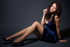 Portrait of attractive young model Stock Images