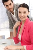 Portrait of attractive young office workers Stock Photos