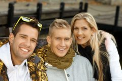 Portrait of attractive young people smiling Stock Images