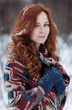 Portrait of attractive young redheaded woman. Royalty Free Stock Photo