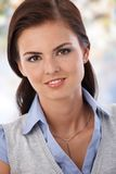 Portrait of attractive young smiling woman Stock Image