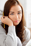 Portrait of an attractive young student Royalty Free Stock Photos