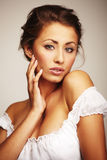 Portrait of a attractive young woman royalty free stock photo