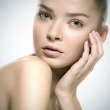 Portrait of attractive young woman Stock Images