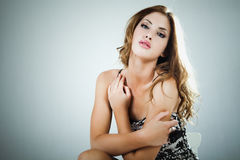 Portrait of an Attractive Young Woman Stock Photos