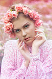 Portrait of an attractive young woman Royalty Free Stock Images