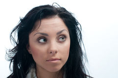 Portrait of attractive young woman Royalty Free Stock Photos