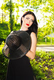 Portrait of attractive young woman Royalty Free Stock Images