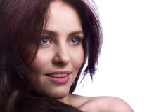 Portrait of attractive young woman closeup Stock Image