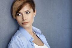 Portrait of attractive young woman Stock Photo
