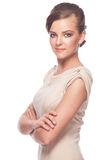 Woman with crossed arms Royalty Free Stock Image