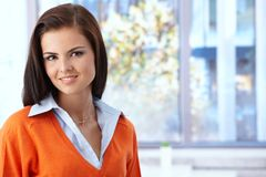 Portrait of attractive young woman smiling Stock Images