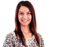 Portrait of an attractive young  woman smiling Royalty Free Stock Photography