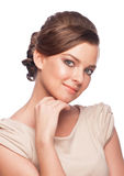 Woman with makeup and hairstyle Royalty Free Stock Photo