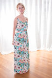 Portrait attractive young woman in summer dress Royalty Free Stock Photos